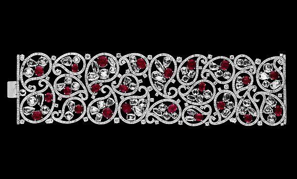 Gorgeous diamond and ruby bracelet