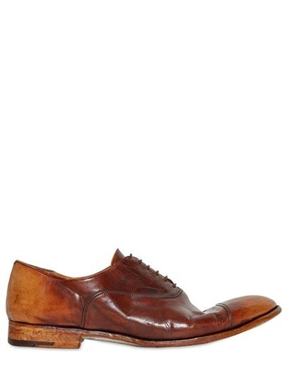 $972, 20mm Hand Brushed Oxford Leather Shoes by Alberto Fasciani. Sold by LUISAV...