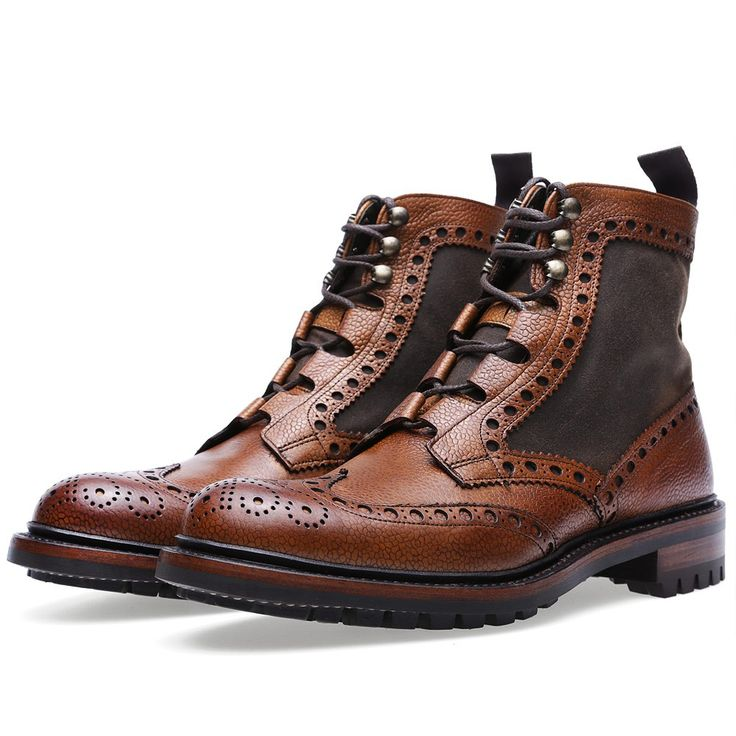 Barbour x Joseph Cheaney & Sons Rushton Brogue Boot (Almond Grain)