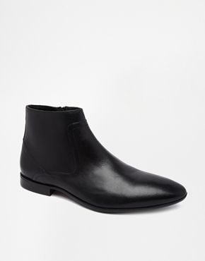 Black Leather Chelsea Boots by Asos. Buy for $87 from Asos