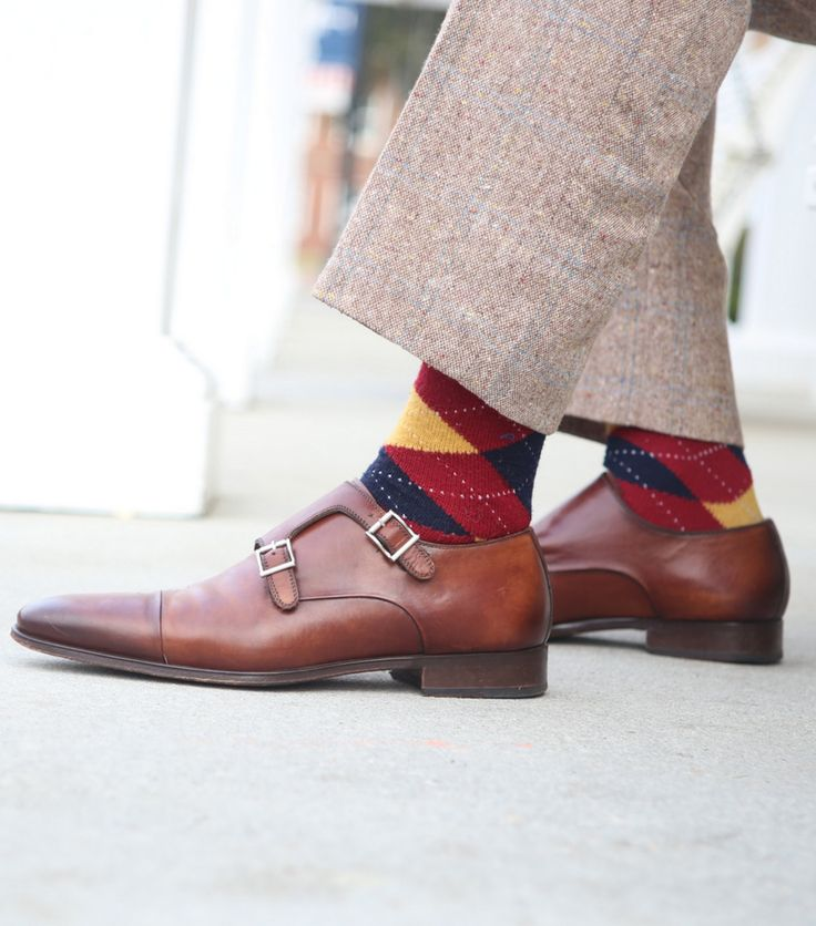 double monk strap + tweed + argyle = fall perfection