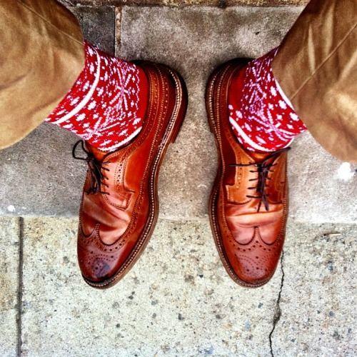 epauletshop: Walt Cramerton Trousers, Corgi Fairisle Socks, Alden Whiskey Longwi...