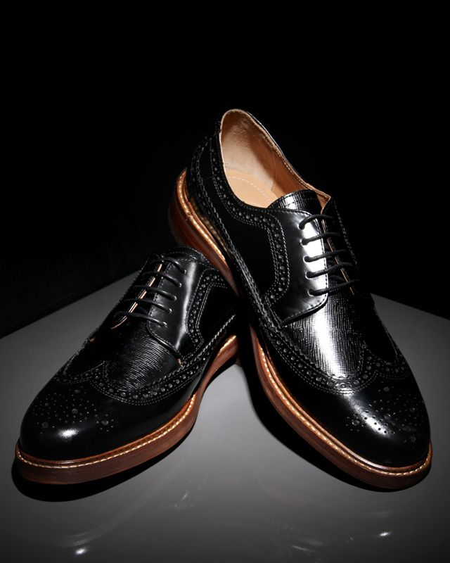 H BY HUDSON CALLAGHAN HI SHINE BROGUES IN BLACK. #hbyhudson #designershoes