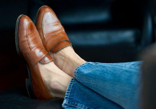 Hooman Majd's Edward Green penny loafers
