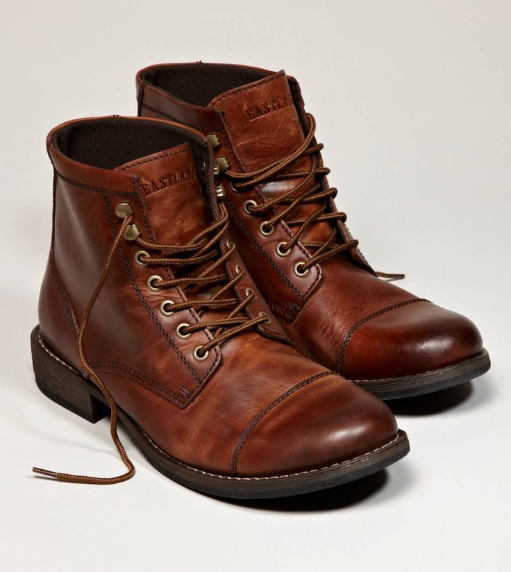 Love the rich color of these... Every man needs a good pair of worked-in boots f...