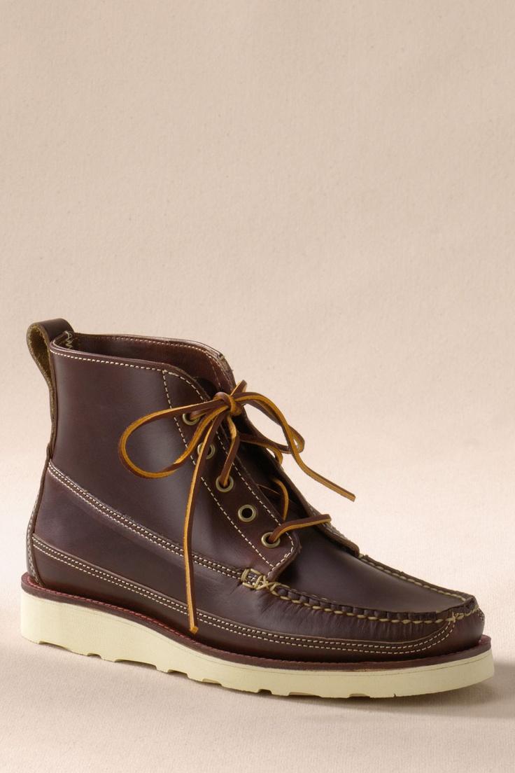 Men's Oak Street Bootmakers Brown Vibram Sole Camp Boot from Lands' End ...