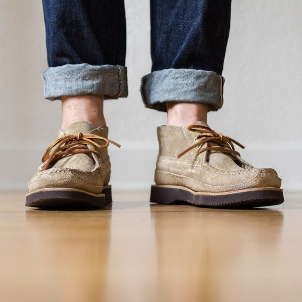 Oak Street Bootmakers | Khaki Suede Vibram Sole Trapper Boot
