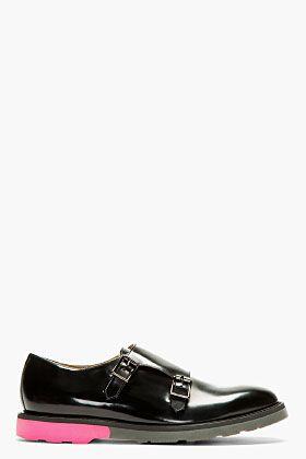 Paul Smith Black Monk Strap Pitt Shoes for men | SSENSE