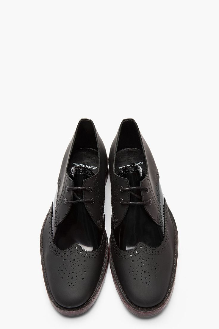 PIERRE HARDY Black Matte & Patent Leather