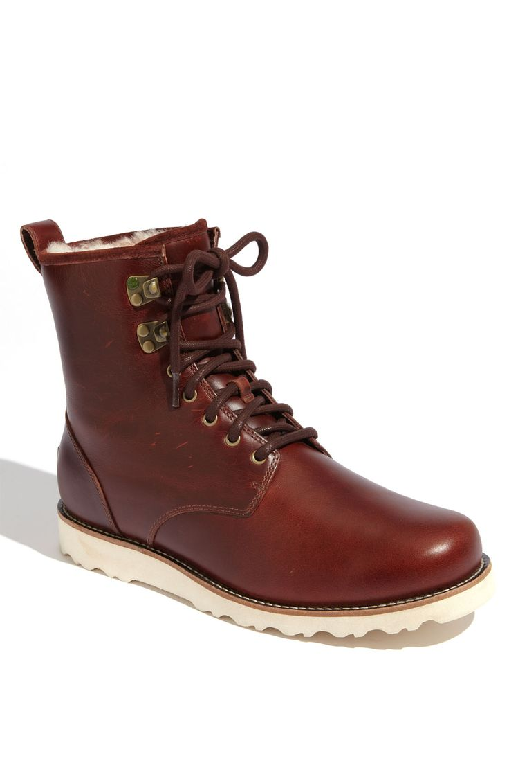 Waterproof leather boots for winter.