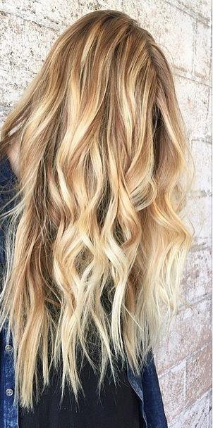 honey blonde and caramel toned balayage highlights                              ...
