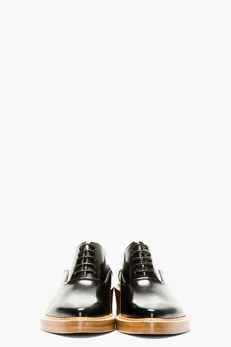 Acne Black Leather Oxfords