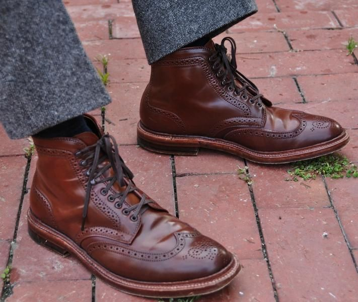 Alden ravello shell cordovan wingtip boots - If I was a boy I'd totally rock...