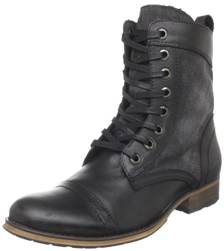 Amazon.com: Guess Men's Alfred Boot,Black Multi Fabric,10.5 M US: Shoes