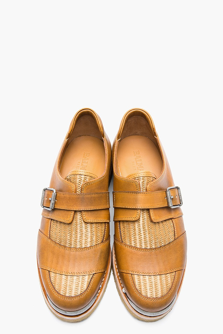the best s shoes and footwear balmain brown leather