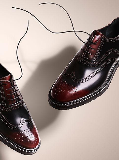 Classic leather brogues for men - new from the Burberry A/W14 accessories collec...