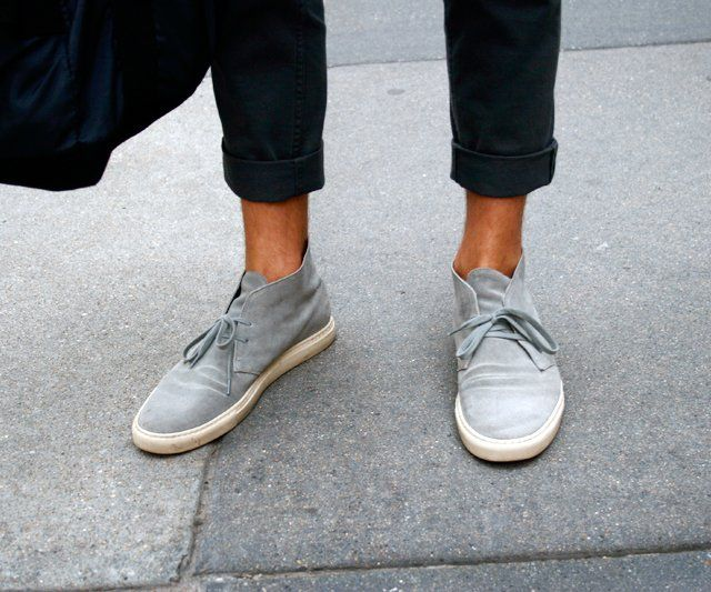 Grey Suede Desert Boots by Common Projects