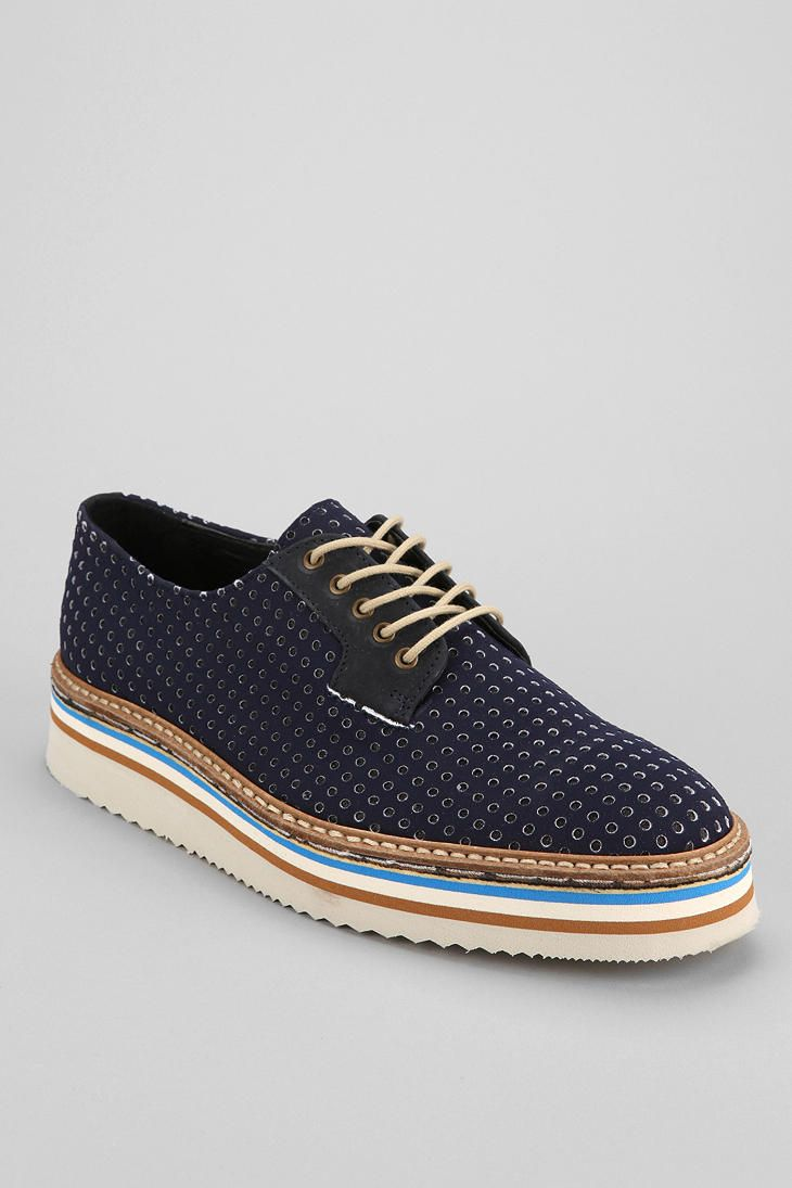 SWEAR Lou 7 Perforated Oxford Shoe