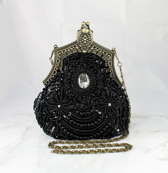 1920s wedding purse