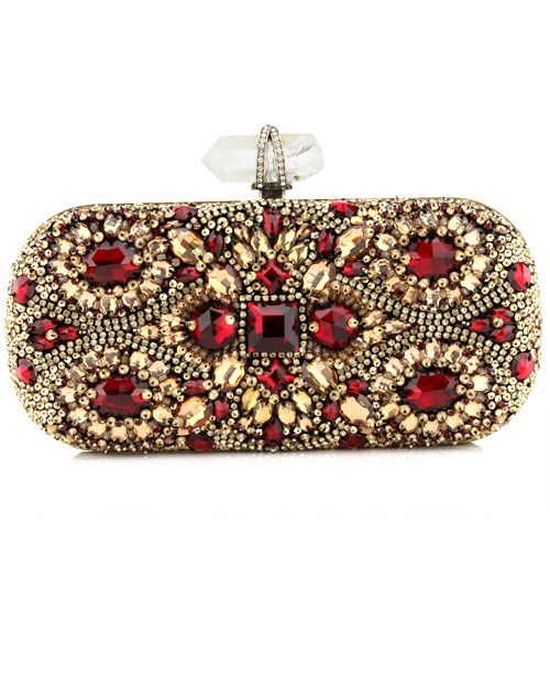 Marchesa Crystal Embroidered Clutch at Saks and Neimans