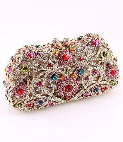 Swarovski crystal clutch | Swarovski♕Austrian Crystal) ♥♥♥GLORIOUS COLOU...