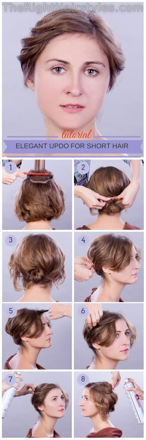 Beautiful updo hairstyles are easy to achieve by watching basic tutorials to giv...