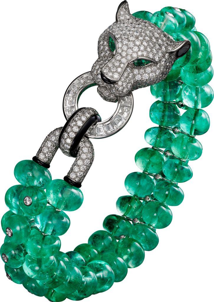 Best diamond bracelets bracelet panth re de cartier for Haute joaillerie cartier