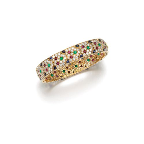 Gem set and diamond bracelet, Cartier Estimate 4,050 - 21,075 USD. LOT SOLD. 29,...