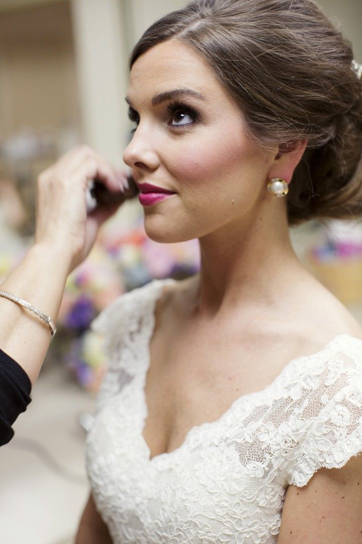 wedding hairstyle; photo: Sarah Kate