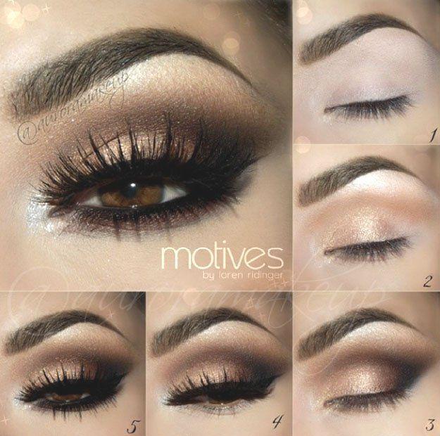 Gold Smokey Eye | Eyeshadow For Brown Eyes | Makeup Tutorials Guide
