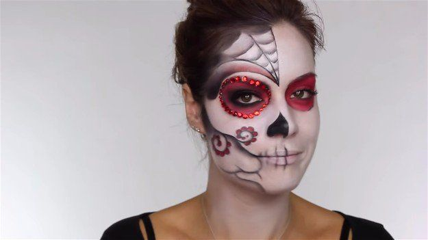 Half Done Face | Easy Day of the Dead Makeup Tutorial Perfect For Halloween