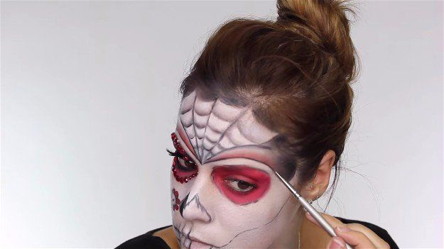 Refine Outline   Easy Day of the Dead Makeup Tutorial Perfect For Halloween