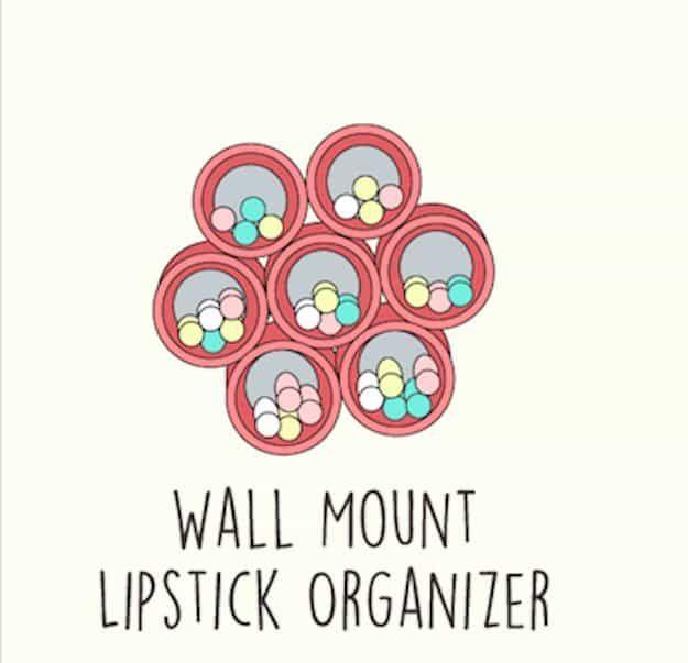 Makeup Tutorials Makeup Tips Wall Mount Lipstick