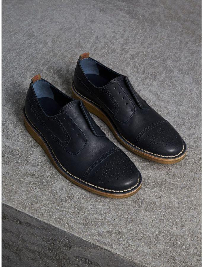 Burberry Raised Toe-cap Nappa Leather Brogues