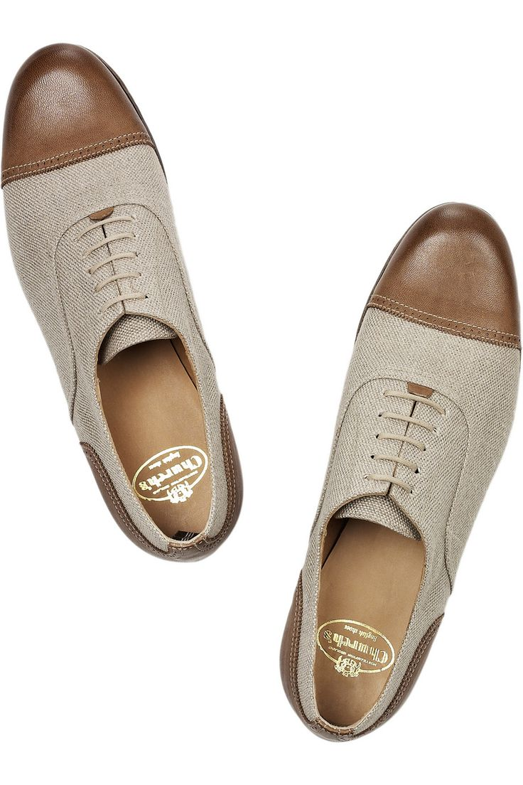 Deborah linen and leather brogues by Church's. Awesome looking leather shoes...