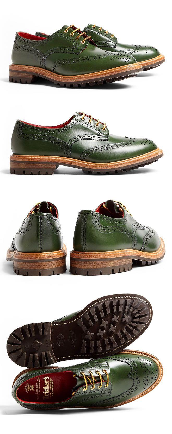 ♂ Masculine & elegance, man's accessories Tricker's Green Commando Brogu...
