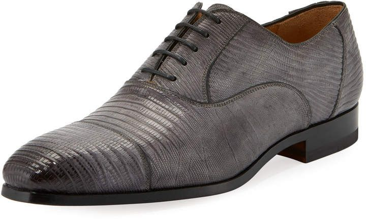 Magnanni for Neiman Marcus Textured Lace-Up Oxford