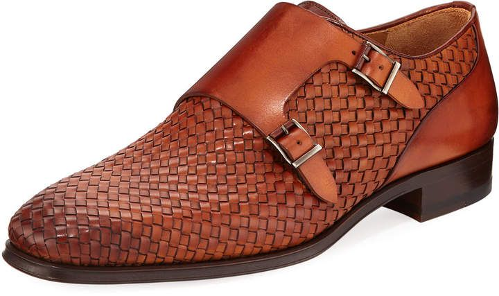 Magnanni for Neiman Marcus Woven Monk Slip-On Loafer