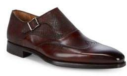 Monk Strap Wingtip Leather Oxfords