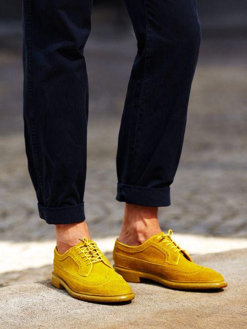 Navy & mustard