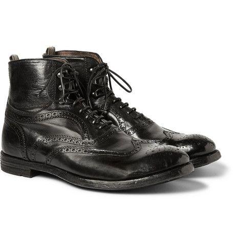 Officine CreativeLeather Brogue Boots