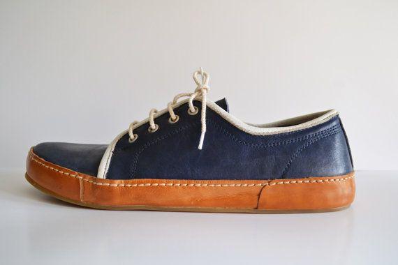 Sneakers handmade in Curried Leather by MDesignWorkshop