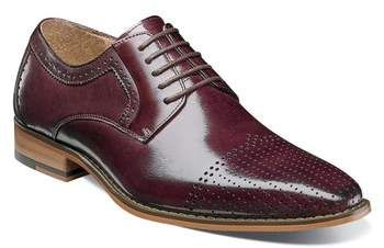Stacy Adams Sanborn Perforated Cap Toe Derby