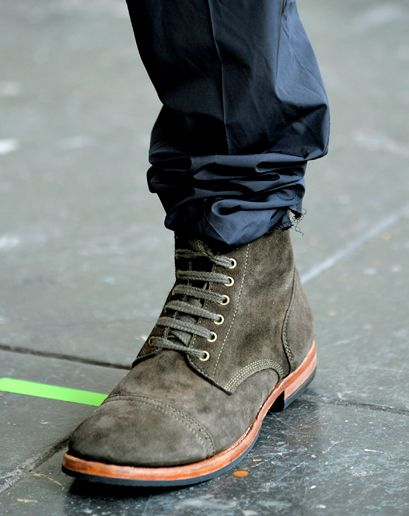 Suede lace-up boots +