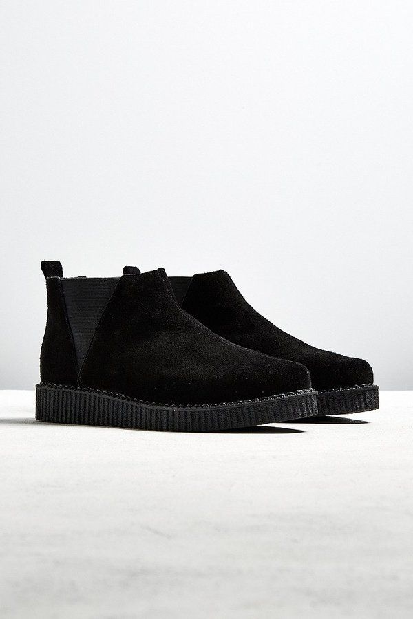 T.U.K. Suede Chelsea Creeper Boot