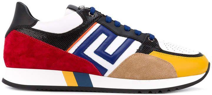 Versace Grecian colour block sneakers