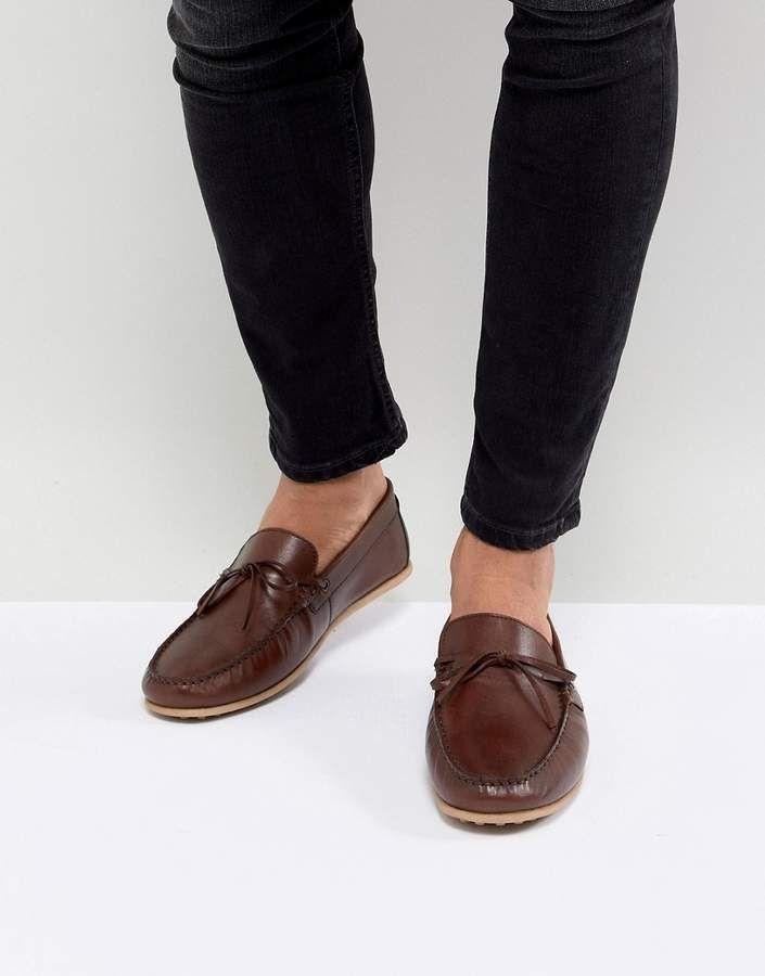 WALK LONDON Walk London Albert Leather Loafers In Brown
