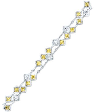 Yellow and white diamond bracelet by Cellini Jewelers