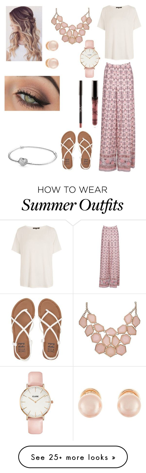 Cute Summer Dinner Outfit By Agrava On Polyvore Featuring Rag Bone JEAN Billabong Kenneth Jay Lane CLUSE Tarte And Pandora