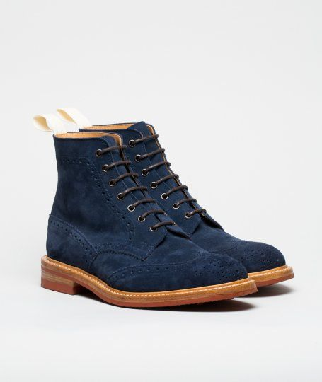 Norse Projects x Tricker's Repello Suede Brogue Boots